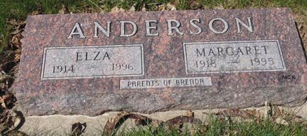 ANDERSON, MARGARET - Minnehaha County, South Dakota | MARGARET ANDERSON - South Dakota Gravestone Photos