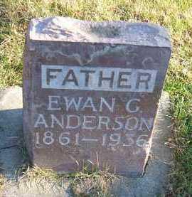 ANDERSON, EWAN G. - Minnehaha County, South Dakota | EWAN G. ANDERSON - South Dakota Gravestone Photos
