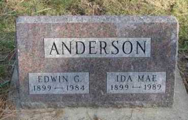 ANDERSON, EDWIN G. - Minnehaha County, South Dakota | EDWIN G. ANDERSON - South Dakota Gravestone Photos