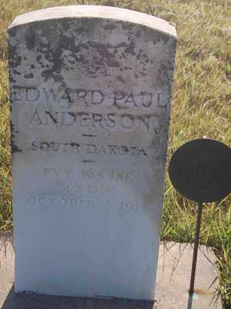 ANDERSON, EDWARD PAUL - Minnehaha County, South Dakota   EDWARD PAUL ANDERSON - South Dakota Gravestone Photos