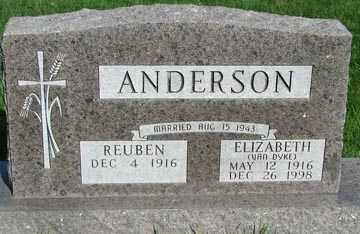 ANDERSON, ELIZABETH - Minnehaha County, South Dakota | ELIZABETH ANDERSON - South Dakota Gravestone Photos