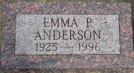 ANDERSON, EMMA P. - Minnehaha County, South Dakota | EMMA P. ANDERSON - South Dakota Gravestone Photos