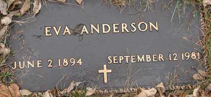 ANDERSON, EVA - Minnehaha County, South Dakota | EVA ANDERSON - South Dakota Gravestone Photos