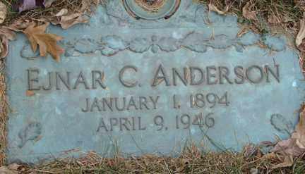 ANDERSON, EJNAR C. - Minnehaha County, South Dakota | EJNAR C. ANDERSON - South Dakota Gravestone Photos