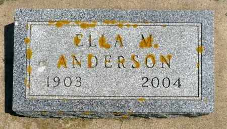 ANDERSON, ELLA M. - Minnehaha County, South Dakota   ELLA M. ANDERSON - South Dakota Gravestone Photos