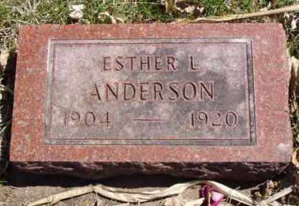 ANDERSON, ESTHER L. - Minnehaha County, South Dakota | ESTHER L. ANDERSON - South Dakota Gravestone Photos