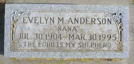 ANDERSON, EVELYN M. - Minnehaha County, South Dakota | EVELYN M. ANDERSON - South Dakota Gravestone Photos