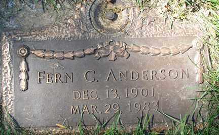 ANDERSON, FERN C. - Minnehaha County, South Dakota | FERN C. ANDERSON - South Dakota Gravestone Photos