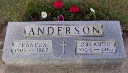 ANDERSON, FRANCES - Minnehaha County, South Dakota | FRANCES ANDERSON - South Dakota Gravestone Photos