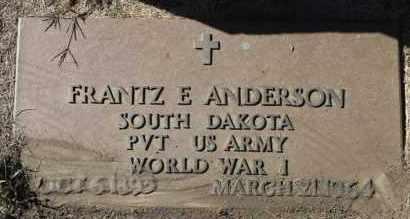 ANDERSON, FRANTZ E. (WWI) - Minnehaha County, South Dakota | FRANTZ E. (WWI) ANDERSON - South Dakota Gravestone Photos