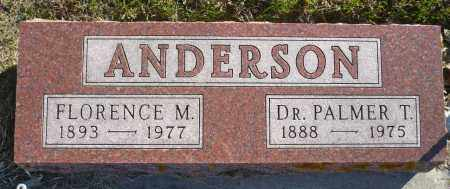 ANDERSON, FLORENCE M. - Minnehaha County, South Dakota | FLORENCE M. ANDERSON - South Dakota Gravestone Photos
