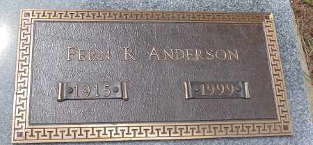 ANDERSON, FERN R. - Minnehaha County, South Dakota | FERN R. ANDERSON - South Dakota Gravestone Photos