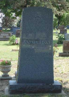 ANDERSON, FAMILY HEADSTONE - Minnehaha County, South Dakota | FAMILY HEADSTONE ANDERSON - South Dakota Gravestone Photos