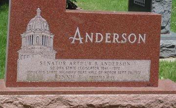 ANDERSON, FAMILY HEADSTONE - Minnehaha County, South Dakota   FAMILY HEADSTONE ANDERSON - South Dakota Gravestone Photos