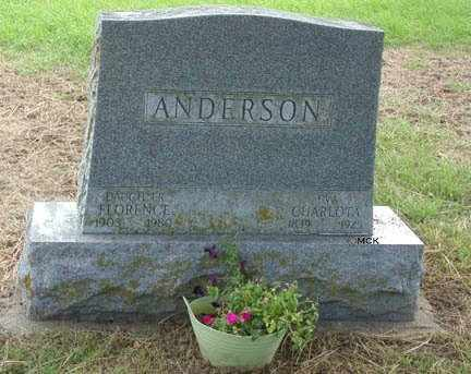 ANDERSON, FLORENCE - Minnehaha County, South Dakota | FLORENCE ANDERSON - South Dakota Gravestone Photos