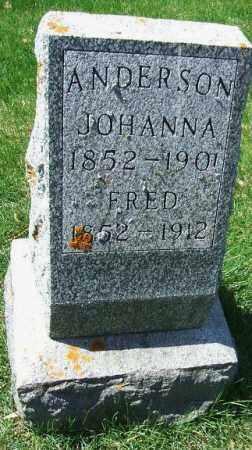 ANDERSON, JOHANNA - Minnehaha County, South Dakota | JOHANNA ANDERSON - South Dakota Gravestone Photos