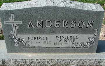 ANDERSON, WINIFRED - Minnehaha County, South Dakota | WINIFRED ANDERSON - South Dakota Gravestone Photos