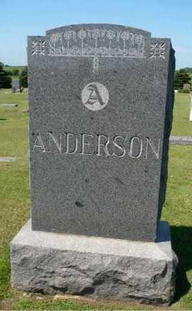 ANDERSON, FAMILY MARKER - Minnehaha County, South Dakota   FAMILY MARKER ANDERSON - South Dakota Gravestone Photos