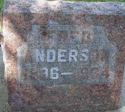 ANDERSON, FRED - Minnehaha County, South Dakota | FRED ANDERSON - South Dakota Gravestone Photos