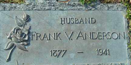 ANDERSON, FRANK V. - Minnehaha County, South Dakota | FRANK V. ANDERSON - South Dakota Gravestone Photos