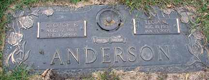 ANDERSON, GEORGE E. - Minnehaha County, South Dakota | GEORGE E. ANDERSON - South Dakota Gravestone Photos