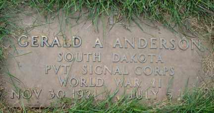 ANDERSON, GERALD ARTHUR - Minnehaha County, South Dakota | GERALD ARTHUR ANDERSON - South Dakota Gravestone Photos