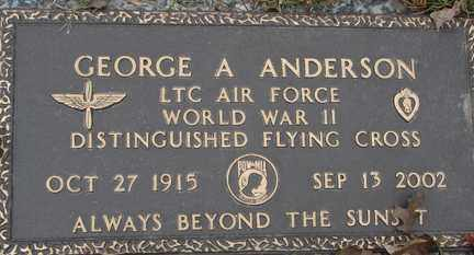 ANDERSON, GEORGE A. - Minnehaha County, South Dakota | GEORGE A. ANDERSON - South Dakota Gravestone Photos