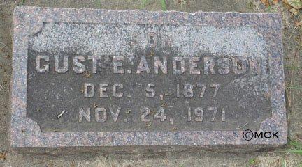 ANDERSON, GUST  EDWARD - Minnehaha County, South Dakota | GUST  EDWARD ANDERSON - South Dakota Gravestone Photos