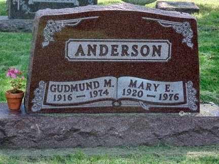 ANDERSON, MARY E. - Minnehaha County, South Dakota | MARY E. ANDERSON - South Dakota Gravestone Photos