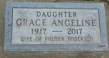 ANDERSON, GRACE ANGELINE - Minnehaha County, South Dakota | GRACE ANGELINE ANDERSON - South Dakota Gravestone Photos