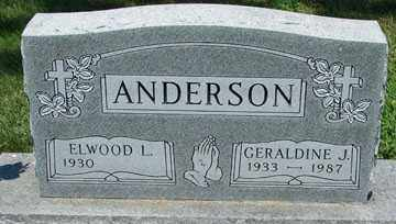 ANDERSON, ELWOOD  L. - Minnehaha County, South Dakota | ELWOOD  L. ANDERSON - South Dakota Gravestone Photos