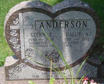 ANDERSON, GLENN E. - Minnehaha County, South Dakota   GLENN E. ANDERSON - South Dakota Gravestone Photos