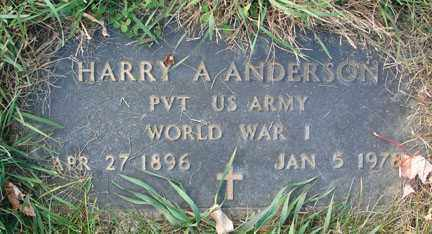 ANDERSON, HARRY A. - Minnehaha County, South Dakota   HARRY A. ANDERSON - South Dakota Gravestone Photos