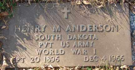 ANDERSON, HENRY M. - Minnehaha County, South Dakota | HENRY M. ANDERSON - South Dakota Gravestone Photos