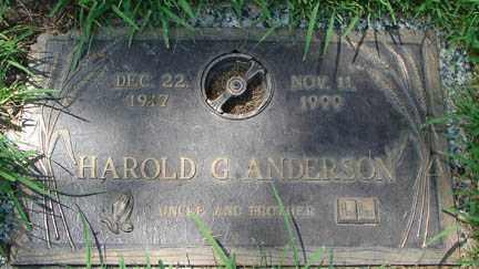 ANDERSON, HAROLD G. - Minnehaha County, South Dakota | HAROLD G. ANDERSON - South Dakota Gravestone Photos