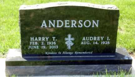 ANDERSON, AUDREY I. - Minnehaha County, South Dakota | AUDREY I. ANDERSON - South Dakota Gravestone Photos