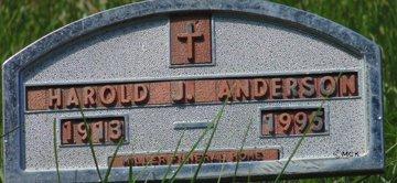 ANDERSON, HAROLD J. - Minnehaha County, South Dakota   HAROLD J. ANDERSON - South Dakota Gravestone Photos