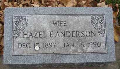 ANDERSON, HAZEL F. - Minnehaha County, South Dakota | HAZEL F. ANDERSON - South Dakota Gravestone Photos