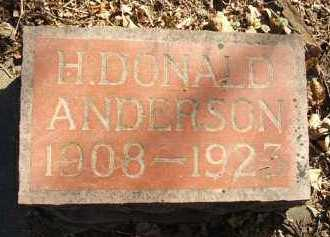 ANDERSON, H. DONALD - Minnehaha County, South Dakota | H. DONALD ANDERSON - South Dakota Gravestone Photos