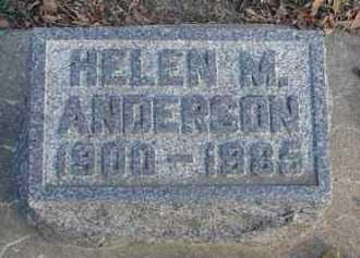 ANDERSON, HELEN M. - Minnehaha County, South Dakota | HELEN M. ANDERSON - South Dakota Gravestone Photos