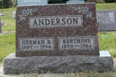 ANDERSON, HERMAN B. - Minnehaha County, South Dakota | HERMAN B. ANDERSON - South Dakota Gravestone Photos