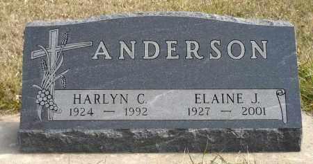 ANDERSON, ELAINE J. - Minnehaha County, South Dakota | ELAINE J. ANDERSON - South Dakota Gravestone Photos