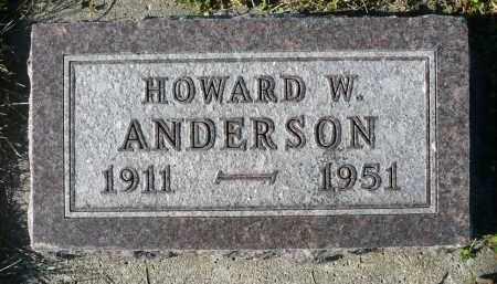 ANDERSON, HOWARD W. - Minnehaha County, South Dakota   HOWARD W. ANDERSON - South Dakota Gravestone Photos