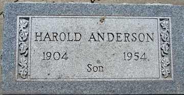 ANDERSON, HAROLD - Minnehaha County, South Dakota | HAROLD ANDERSON - South Dakota Gravestone Photos
