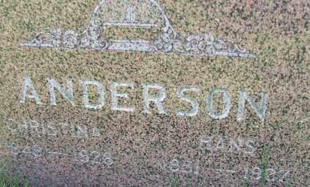 ANDERSON, CHRISTINA - Minnehaha County, South Dakota | CHRISTINA ANDERSON - South Dakota Gravestone Photos