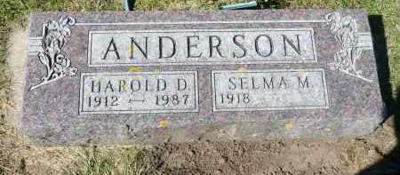 ANDERSON, HAROLD D. - Minnehaha County, South Dakota | HAROLD D. ANDERSON - South Dakota Gravestone Photos