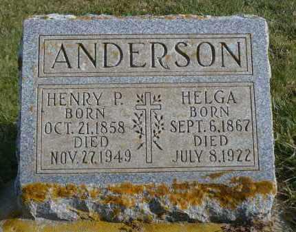 ANDERSON, HENRY P. - Minnehaha County, South Dakota   HENRY P. ANDERSON - South Dakota Gravestone Photos