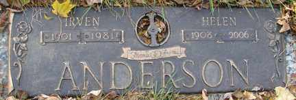 ANDERSON, IRVEN - Minnehaha County, South Dakota | IRVEN ANDERSON - South Dakota Gravestone Photos