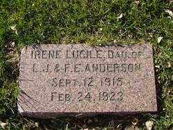 ANDERSON, IRENE LUCILE - Minnehaha County, South Dakota | IRENE LUCILE ANDERSON - South Dakota Gravestone Photos