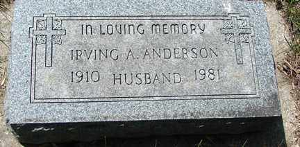 ANDERSON, IRVING A. - Minnehaha County, South Dakota | IRVING A. ANDERSON - South Dakota Gravestone Photos